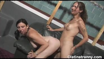 Nikki Montero and Female Eva sucking her cock and cumming on mouth
