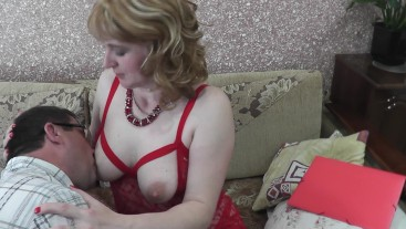Stimulation erogenous zone boobs nipples ear labia clit. Man excited. Milf