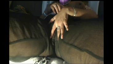 I masturbated my throbbing wet pussy in my silk pants cum P2