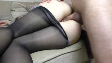In big pantyhose ass i can