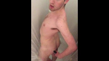 Solo fun in the shower, part 2