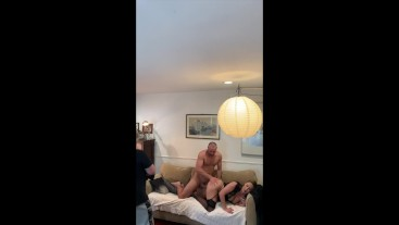Behind the scenes filming a custom flogging and fucking video