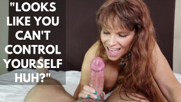 Sexy Milf gives you TWO Ruined Orgasms