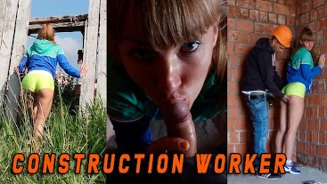 She was caught by a Construction worker when she masturbated - EN SUBTITLES