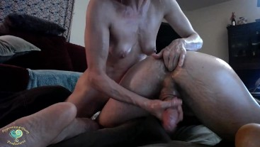Peppermint Gives Dusty an Anal Orgasm