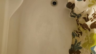 Guy Pees in the Shower while still in Chastity