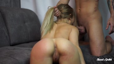 sporty likes spanking ass before fuck and cum in her mouth