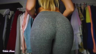 Some home workout in yoga pants