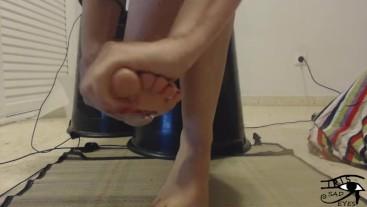 Feet masage. Irisojostristes.