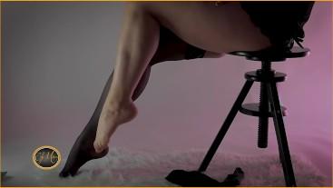 Striptease sexy nylon stockings - Ely Mira