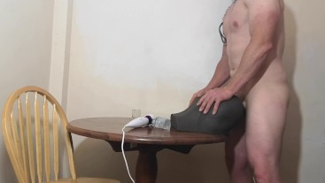 Chastity Release - Beta male mounts fake pussy for semen extraction