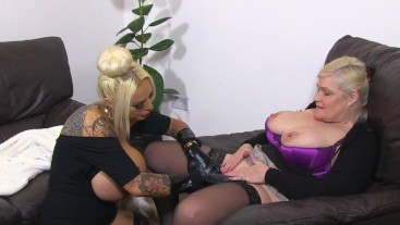 Lesbian Therapy for Huge Titted Whore
