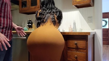 Help! Step Son I'm Stuck In The Kitchen Sink! Please Fuck My Big Ass!