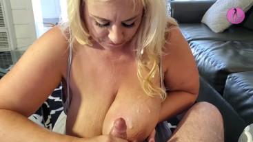 BBW Milf Lila Lovely Gives Fan Best POV Blowjob & Titty Fuck Ever