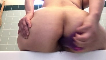 Fucking my asshole after shower