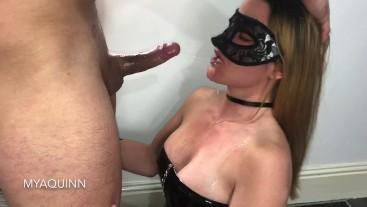 MyaQuinn sloppy face fuck deepthroat ass licking and cum swallow