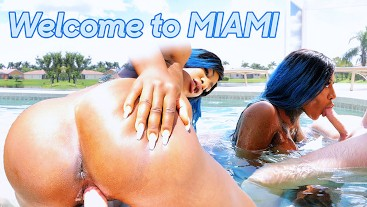 I was fucked hard in my miami mansion by the stranger pool boy | Josy Black