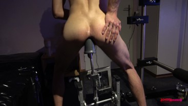 Pushing my anal limits, Cumshot with huge anal toy inside my ass
