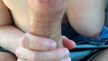 MILF Gets Car Pounding with Big Load in Her Mouth