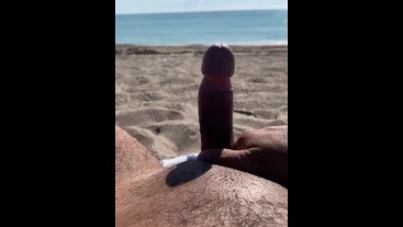 Milking The Cock At The Beach ASMR