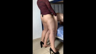 AMAZING PEGGING for fucking her ass