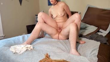 Horny housewife fucks boyfriend while husband is at work