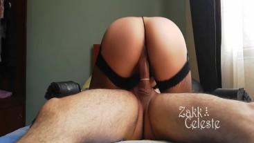 She tries on sexy lingerie to fuck with her neighbor / Zakk Celeste