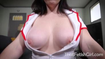 Naughty Nurse Tricks You For Your Jizz