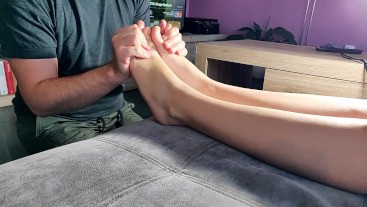 Love her sexy feet - every day massage it