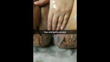 My wife become a cum addicted whore and cumslut for breeding [Cuckold. Snapchat]