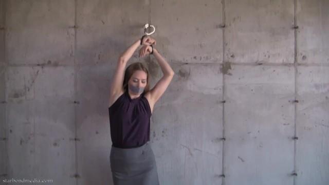Self Bondage Predicament - Star Nine Handcuff Damsel In