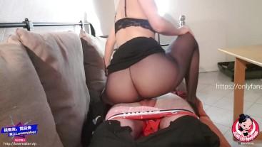 June Liu 刘玥 / SpicyGum - Sexy Chinese Boss Fucks her Employee / Part 2 / pantyhose (FREE FOR FANS)