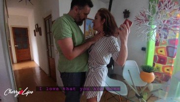Spanish sweet secret lovers are almost caught by husband - Cherry Lips 4k