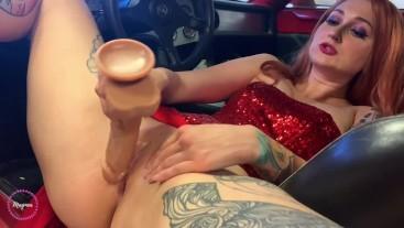 Jessica Rabbit's Joyride - dildo fucking pussy cosplay
