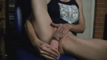 Masturbation while editing