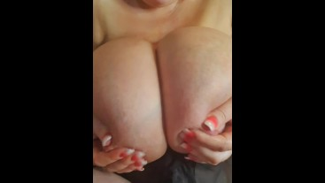 Horny bbw milf POV JOI begs for your cum on her massive tits