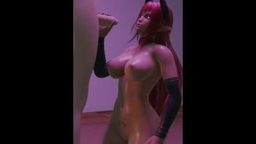 Succubus Demon Gives Hot Handjob