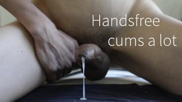 Sensual Edging a Big Uncut Cock - Handsfree cums a lot