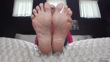 Satisfy My Cum Hungry Soles - Feet JOI - Nikki Ashton