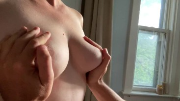 Sunrise Wake Up with Tits, Blowjob, Rear Entry, and Facial