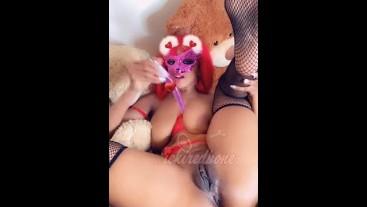 Naughty redhead