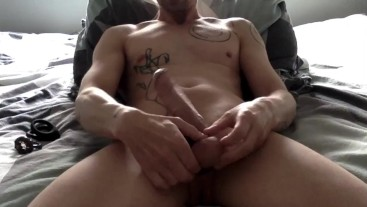 Horny Solo Play Wearing Cock Ring