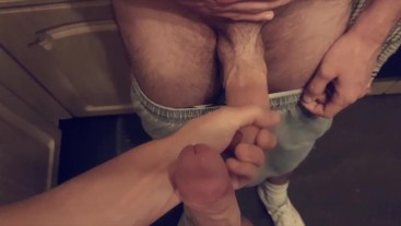 Horny Dick Play With M8 In Kitchen