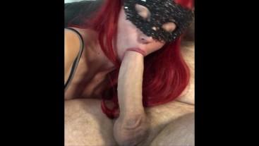 Big Cock Blowjob Cums Over My Mask