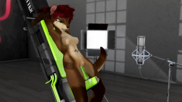 Lana squirts and cums on fucking machine FT. VOICE ACTING FROM NEBULA - Second Life Yiff