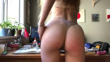 Making Myself Cum on My Messy Table