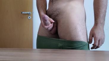 Big Uncut Veiny Cock Closeup - Verbal Male Dirty Talk