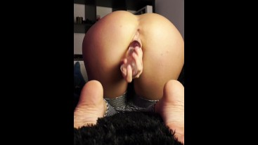 Taking off my new yoga pants for dildo fuck my beautiful ass